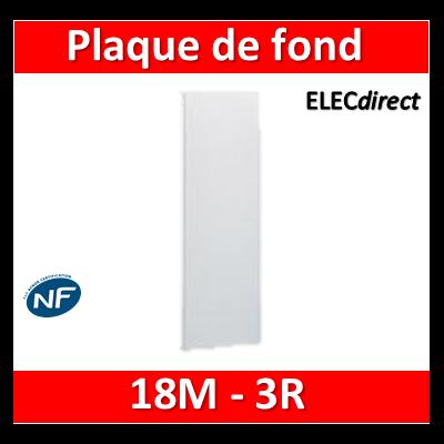 Legrand - Plaque de fond pour coffret ou rehausse 18M - 3R - 401253