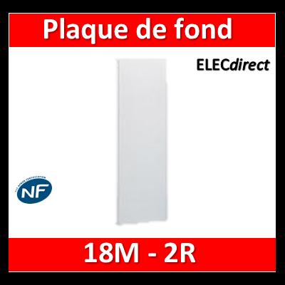 Legrand - Plaque de fond pour coffret ou rehausse 18M - 2R - 401252
