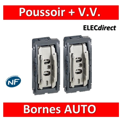 Legrand - Céliane - Mécanisme Poussoir + Va et vient 10A - 067001+031