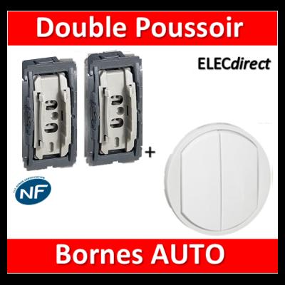Legrand Céliane - Mécanisme + enjoliveur - Double Bouton poussoir - 067031-031+068002