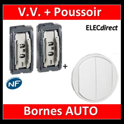 Legrand Céliane - Mécanisme + enjoliveur - Poussoir + Va et vient - 067031+067001+068002