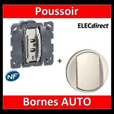 Legrand Céliane - Mécanisme + enjoliveur - Bouton poussoir - 067031+068001