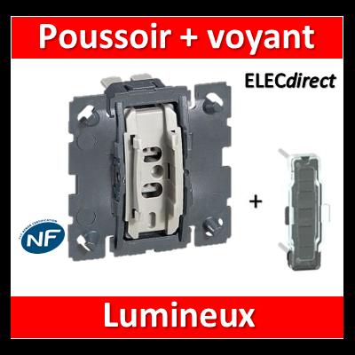Legrand Céliane - Mécanisme + voyant - Bouton poussoir lumineux - 067031+067686