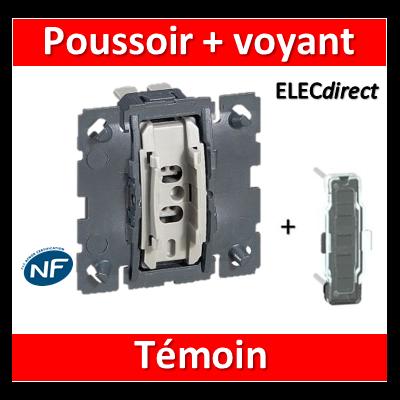 Legrand Céliane - Mécanisme + voyant - Bouton poussoir témoin - 067034+067688