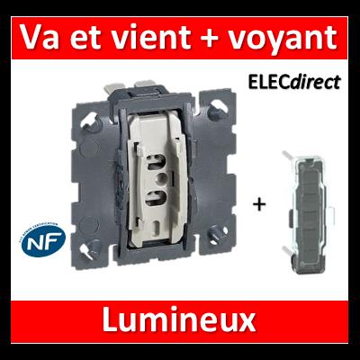 Legrand Céliane - Mécanisme + voyant - Va et vient lumineux 10A - 067001+067686