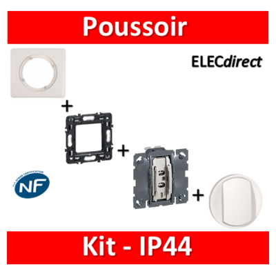Legrand Céliane - Kit IP44 - Poussoir - complet