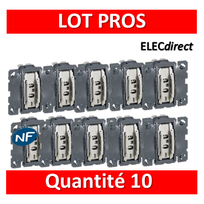 Legrand Céliane - Mécanisme LOT PROS - Va et vient 10A - 067001x10