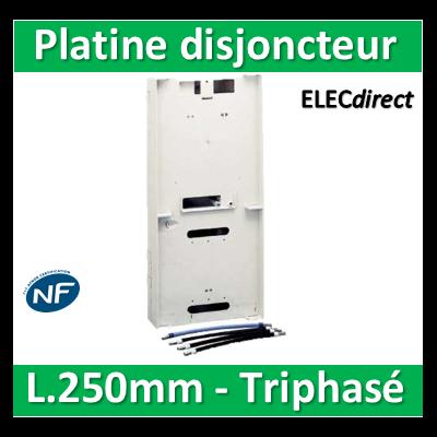 Schneider - Platine Pour disjoncteur + Compteur TRI - L.250mm - Epaisseur 82mm - R9H13215