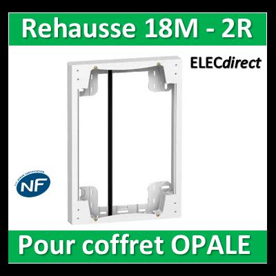 SCHNEIDER - Rehausse pour coffret OPALE 18M - 2R - 18759