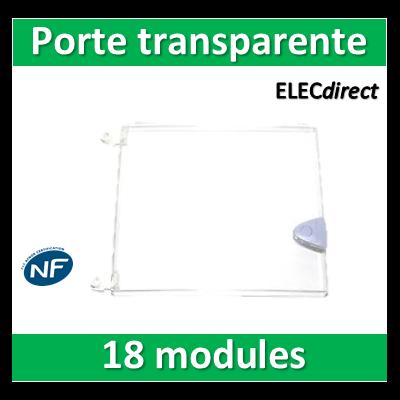 Schneider - Porte transparente pour coffret Opale - 18 modules 1 rangée - 18425