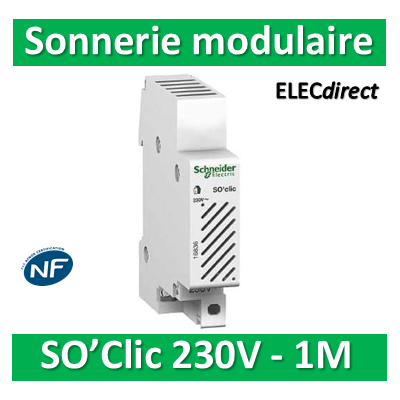 Schneider - Sonnerie modulaire SO'Clic 230V - 80dB - 16836