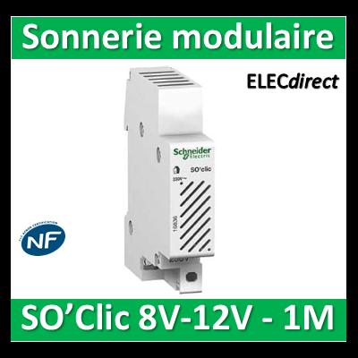 Schneider - Sonnerie modulaire SO'Clic 8V - 12V - 80dB - 16837
