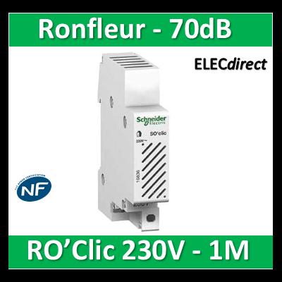 Schneider - Ronfleur modulaire RO'Clic 230V - 70dB - 16834