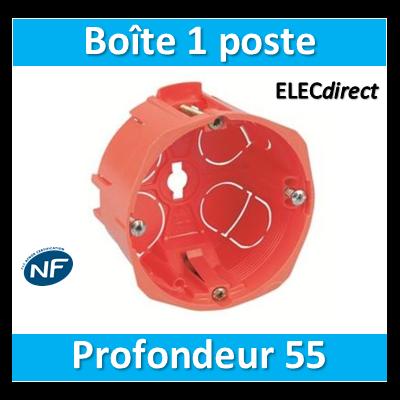 SIB - Boîte simple 1 poste Profondeur 55mm - 16855