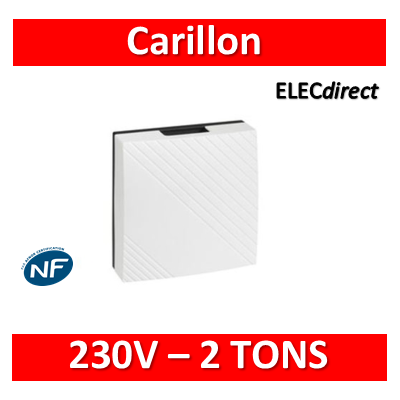 Legrand - Carillon 230V 2 TONS - 75dB - 041651