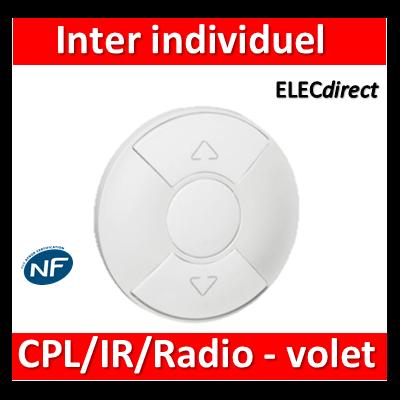 Legrand Céliane - Enjoliveur blanc inter individuel CPL/IR/radio de volet - 068161