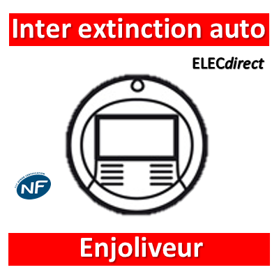 Legrand Céliane - Enjoliveur blanc inter extinction auto - 068294