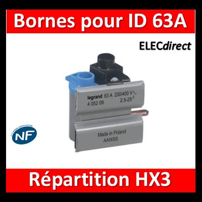 Legrand - Borne de connexion pour ID63A 2M - 405209