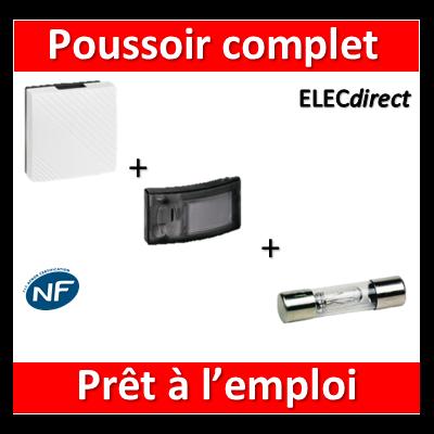 Legrand - Carillon 230V 2 TONS - 75dB + bouton poussoir lumineux - 041651+041645+089821