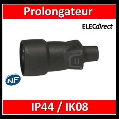 Legrand - Prolongateur 16A - caout - IP44 / IK08 - sortie droite - 050446
