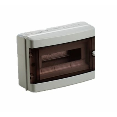 Digital Electric - Coffret électrique étanche - 1 rangée - 12 modules - IP55/IK08