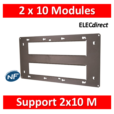 Legrand - Support 2x10 Modules - Mosaic - Fixation VIS - 080268