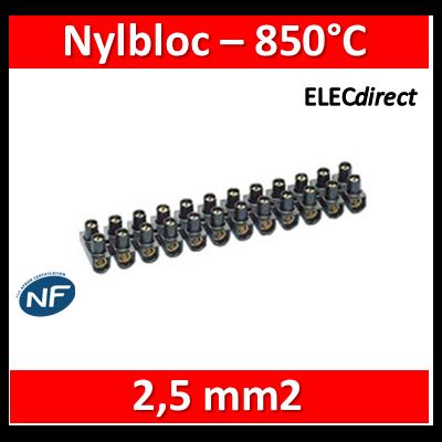 Legrand - Barrette de connexion Nylbloc - Bornier 12 pôles 2,5 mm2 à vis - 034211