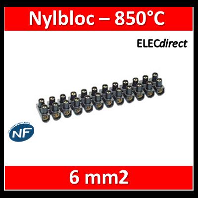 Legrand - Barrette de connexion Nylbloc - Bornier 12 pôles 6 mm2 à vis - 034213