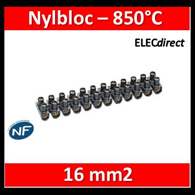 Legrand - Barrette de connexion Nylbloc - Bornier 12 pôles 16 mm2 à vis - 034217