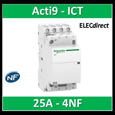 Schneider - Contacteur Acti9 - ICT - 25A - 4NF - 230/240V 50Hz - A9C20837