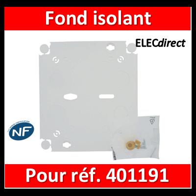 Legrand - Fond isolant pour platines de branchement - 401191 - 401193