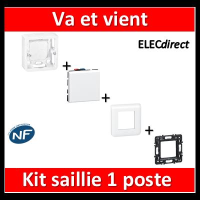 Legrand Mosaic - Kit saillie Va et vient complet - Prof. 40