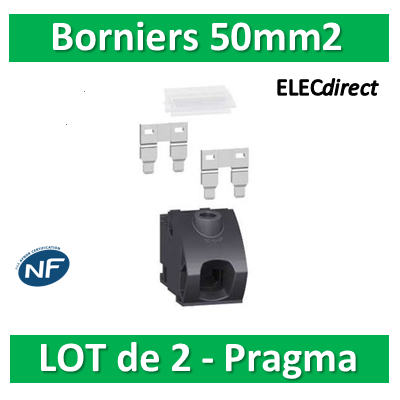 Schneider - Pragma Kit Bornier 50mm2 - PRA90045 Lot de 2