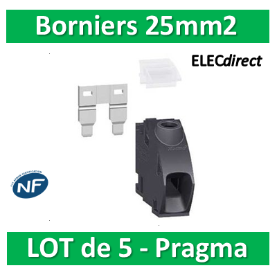 Schneider - Pragma Kit bornier 25mm2  - PRA90046 Lot de 5