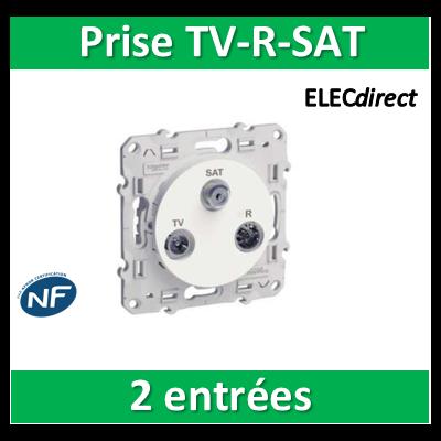 Schneider Odace - Prise TV-FM-SAT 2 entrées TV/FM et SAT - s520460