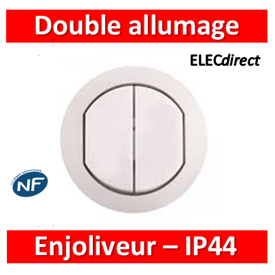 Legrand Céliane - Enjoliveur Double allumage - IP44 - 067802