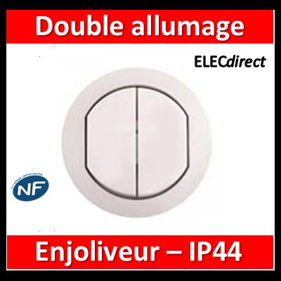 Legrand Céliane - Enjoliveur Double allumage - IP44 - 067802