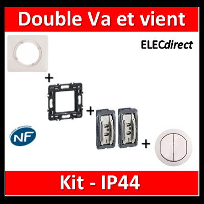 Legrand Céliane - Kit IP44 - Double va et vient - complet