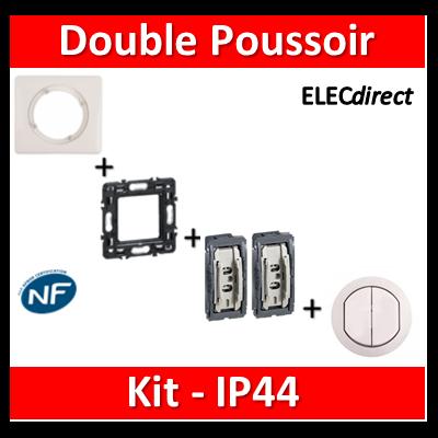Legrand Céliane - Kit IP44 - Double poussoir - complet