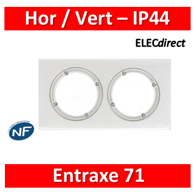 Legrand Céliane - Plaque double  - IP44 - Blanc - 069072
