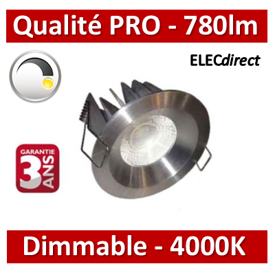 Lited - Spot LED 10W MonoLED Dimmable - ALU - 4000K - 780lm