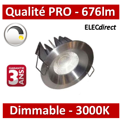 Lited - Spot LED 10W MonoLED Dimmable - ALU - 3000K - 676lm