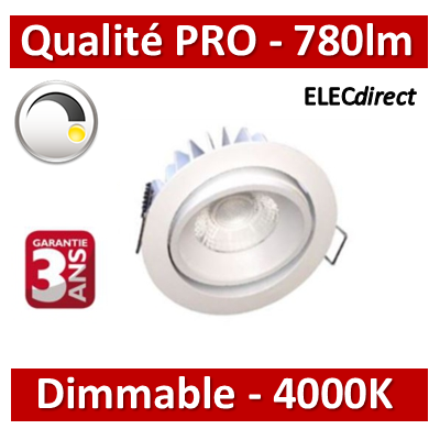 Lited - Spot LED 10W MonoLED Orientable - Dimmable - 4000K - 780lm