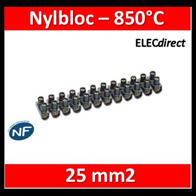Legrand - Barrette de connexion Nylbloc - Bornier 12 pôles 25 mm2 à vis - 034219