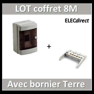 Digital Electric - Coffret électrique étanche 8 modules + bornier de Terre - IP55/IK08