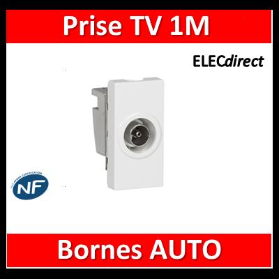 Legrand Mosaic - Prise TV simple - 1 module - Mâle - 078793