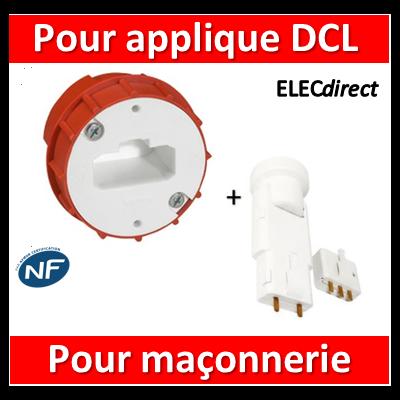 Legrand Batibox - Boîte à sceller - Couvercle DCL pour applique + Douille - 089204+11127