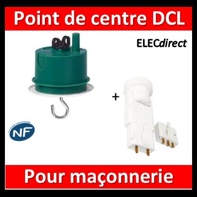 Legrand Batibox - Boîte à sceller - Couvercle DCL pour point de centre + Douille - 089237+11127