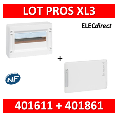 Legrand - Coffret de distribution 18 modules - 1R de 18M + porte - XL3 125 - 401611+401861
