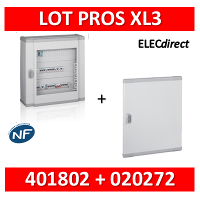 Legrand - Coffret de distribution 48 modules - 2 rangées de 24M - XL3 160 + porte - 401802+020272